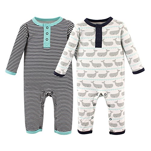 Hanes Unisex-Baby Ultimate Baby Zippin 3 Pack Sleep and Play Suits Layette Set