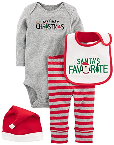 6ee02612b Layette Sets – Simple Joys by Carter's Baby 4-Piece My First Christmas Set,  Grey Santa, 6-9 Months