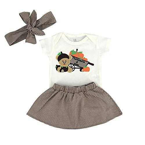 18b66992d Layette Sets – Unique Baby Girls My 1st Thanksgiving Onesie Pumpkin Patch  Skirt Headband Layette (9 Months) Brown